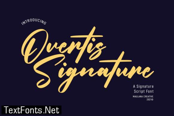Overtis Signature Font
