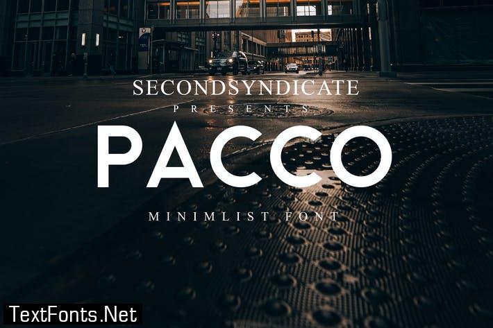 Pacco - Sans Serif Font