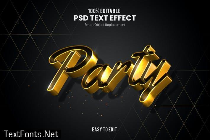 Party-3D Text Effect RXNTJRK