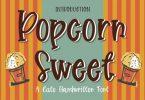 Popcorn Sweet Font