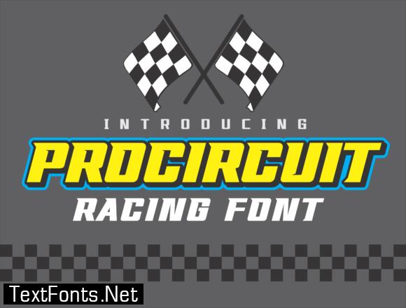 Pro Circuit Font