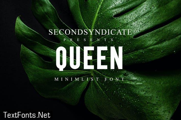 Queen - Minimalist Font