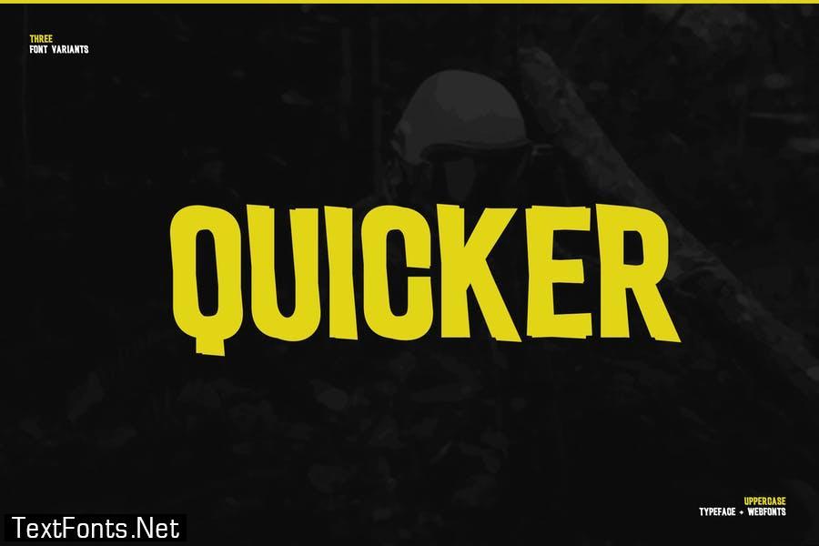 Quicker Modern Business Font