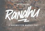 Randhu – Handwritten Marker Font