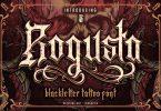 Rogusta - Blackletter Font
