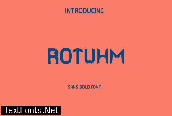 Rotuhm Font