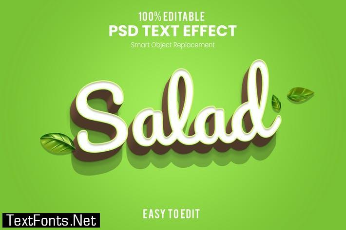 Salad-3D Text Effect