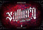 Salliery - Blackletter Tattoo Font