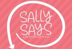 Sally Says Font