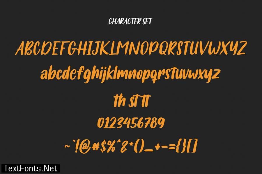 Salmonillo Handwritten Font
