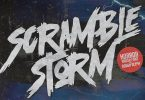 Scramble Storm - Horror brush Font