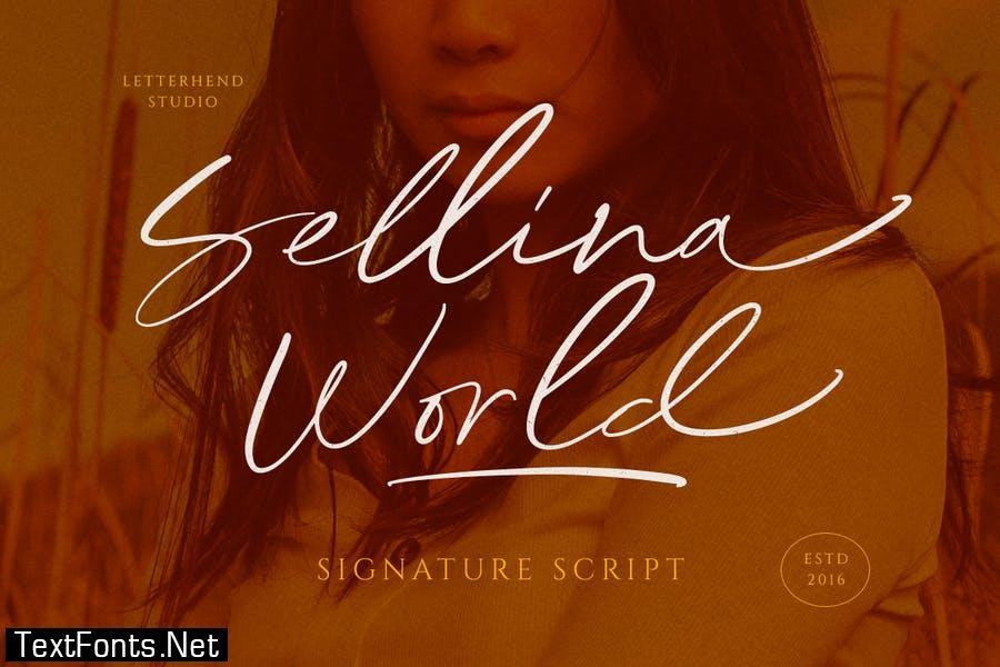 Sellina World Font