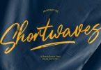 Shortwaves Brush Script Font