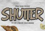 Shutter - Handwritten Brush font