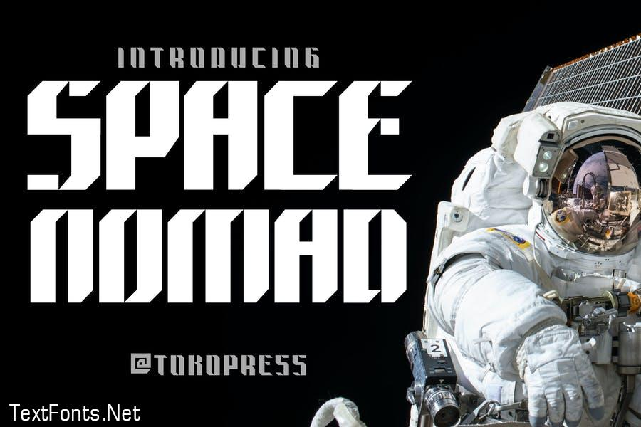 Space Nomad - techno sporty font
