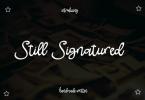 Still Signatured Font