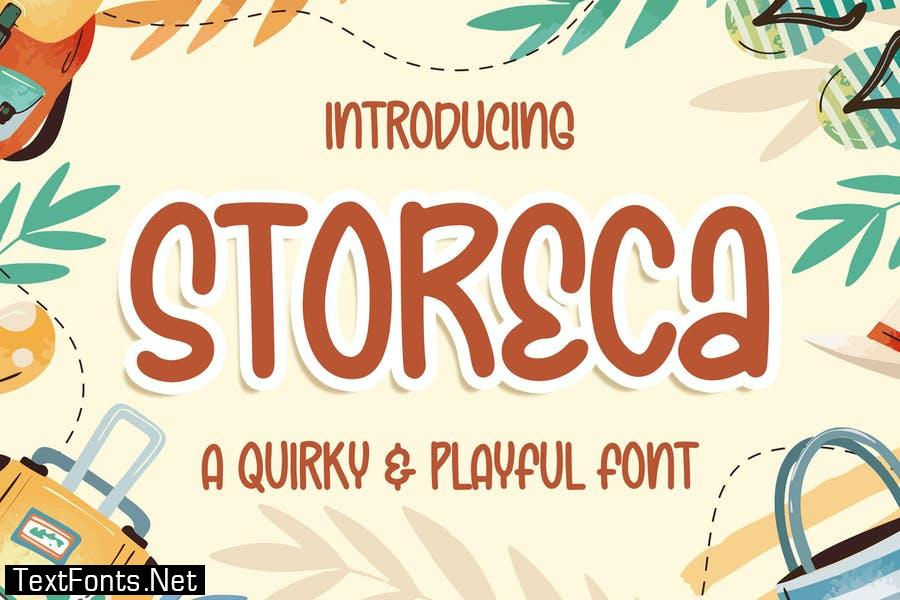 Storeca a Quirky & Playful Font