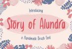 Story of Alundra – Cute Brush Font