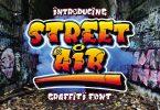 Street Air - Urban Graffiti Font