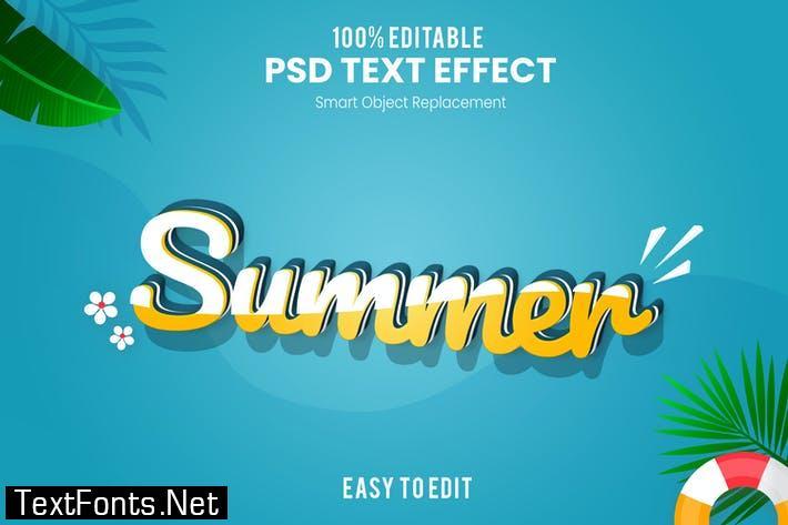 Summer-3D Text Effect