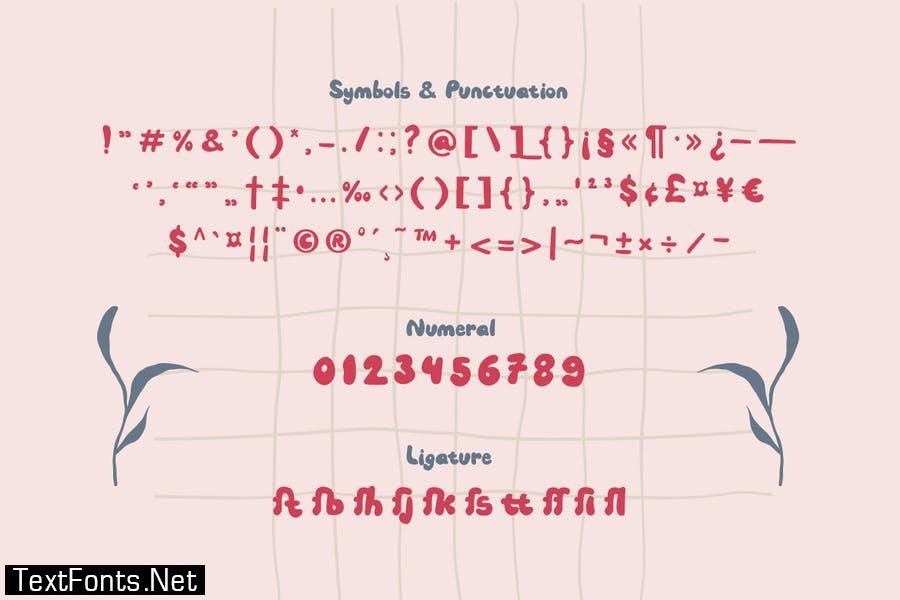 Sweet Cherry – a Sweet Hand-Drawn Font