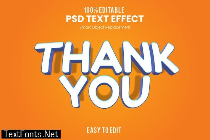 Thank You-3D Text Effect