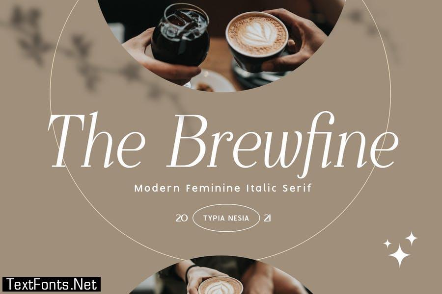The Brewfine - modern feminine italic serif