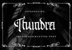 Thundra – Blackletter Font