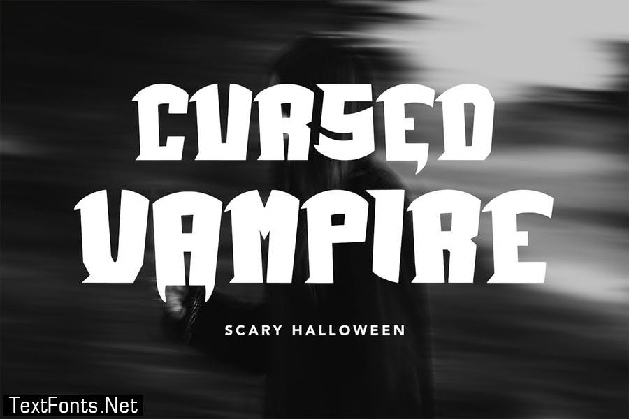 Vampire World - Halloween Display Font