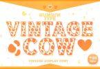 Vintage Cow Font