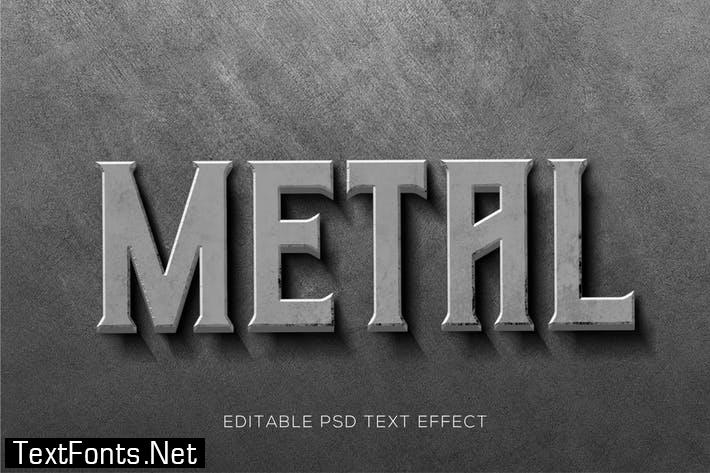Wall Metal Text Effects