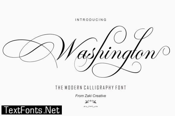 Washington Script Font