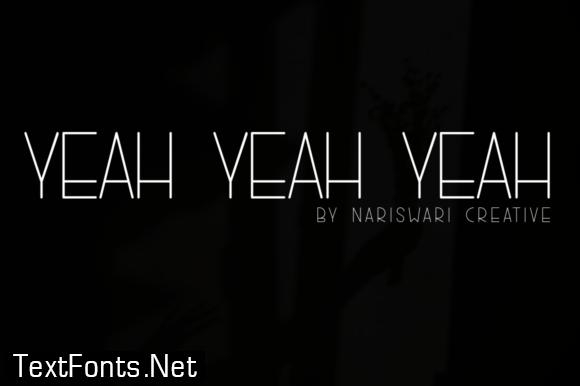 Yeah, Yeah, Yeah Font