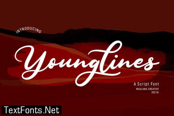 Younglines Script Font
