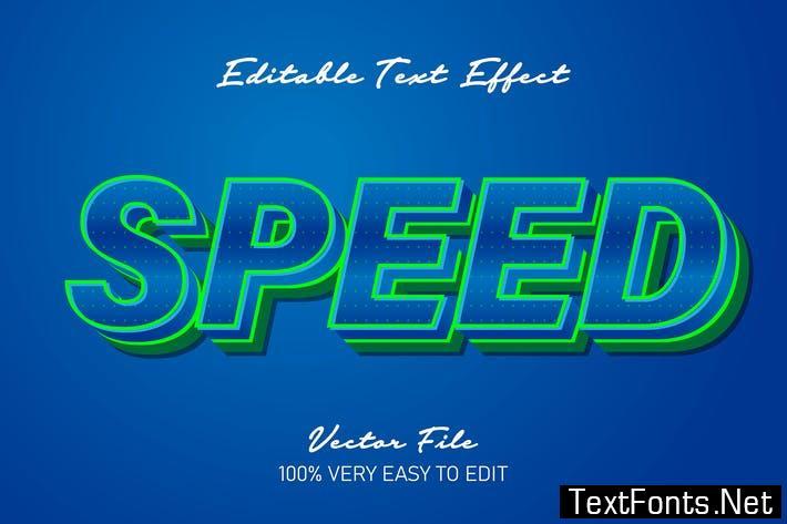 3d green strong bold text effect