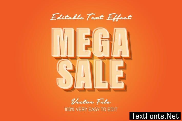 3d mega sale text effect