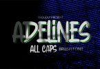 Adelines - Rough Brush Font