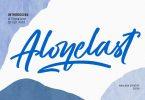 Alonelast Signature Script Font