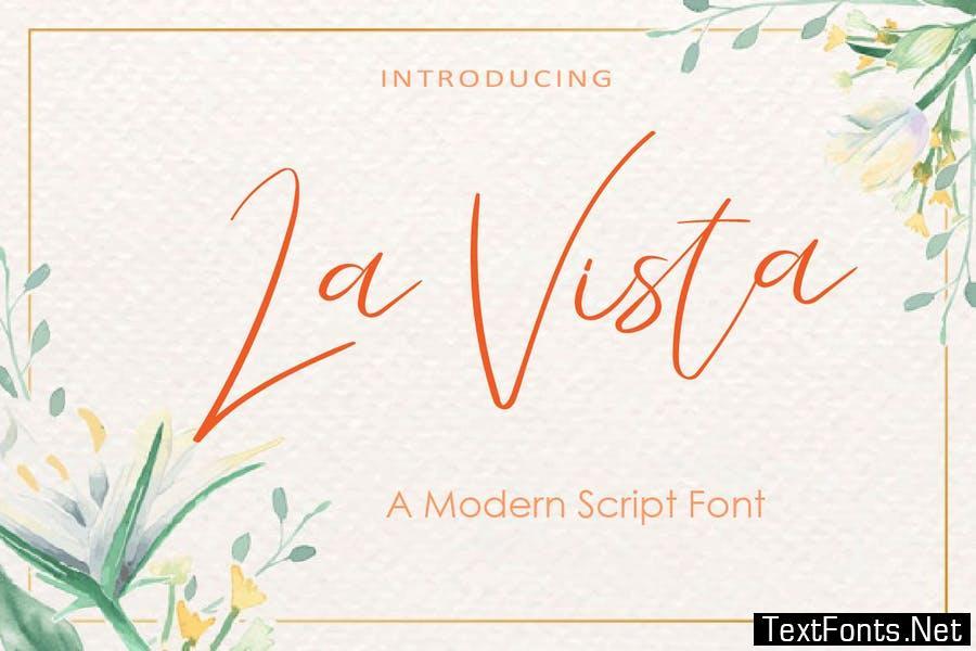 AM La Vista - Modern Script