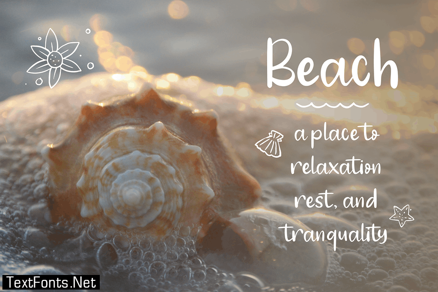 Angola Beach - Crafty Font