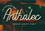 Anthalec Script Font