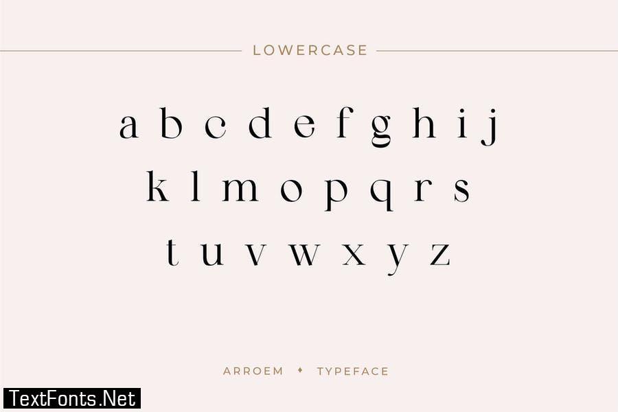 Arroem - Serif Display Font