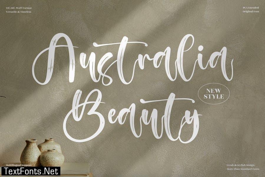 Australia Beauty Brush Script LS