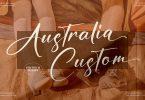 Australia Custom Signature Font LS
