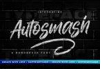 Autosmash - Brush Font