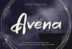 Avena – Handwritten Brush Script