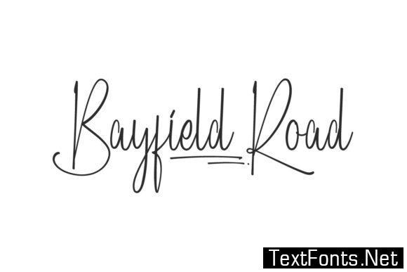 Bayfield Road Font