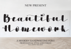Beautiful Homework Font