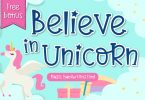 Believe in Unicorn Font