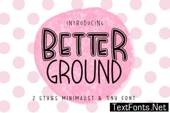 Better Ground Font
